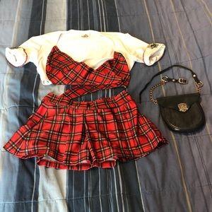 Tilted Kilt Uniform Costume with Sporran Small HOT